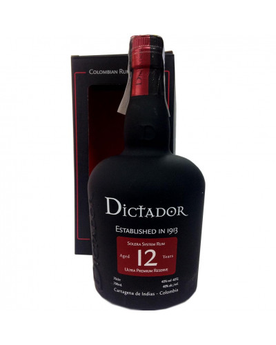 Dictador Statewide 12 Year Old Colombian Rum 750ML -