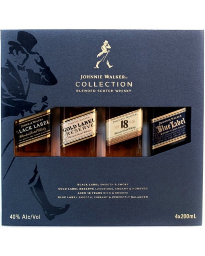 Johnnie Walker Collection Gift Set of 4 units 200ml -