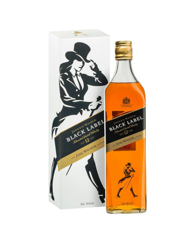 Johnnie Walker Scotch 12 Year Black Label The Jane Walker 750ml -