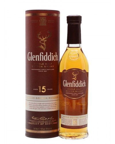 Glenfiddich Scotch Single Malt 15 Year Unique Solera Reserva 1Lt -