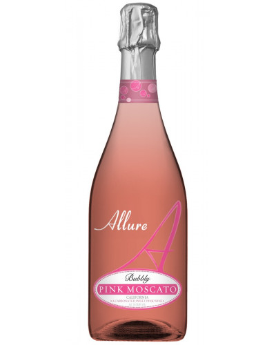 Allure Bubbly Pink Moscato Split bottles 12 pks 187ml -