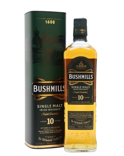 Bushmills Irish Whiskey 10 Year 750ml -